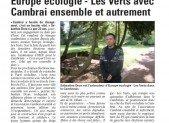 Presse :  Europe écologie-Les Verts avec Cambrai ensemble et autrement