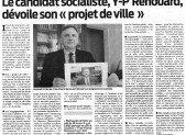 L'Observateur du Cambrésis relaie notre «Projet de Ville» pour Cambrai