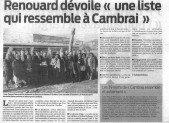 Renouard dévoile «une liste qui ressemble à Cambrai»